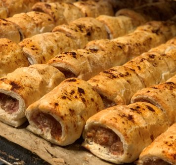 Party Jalapeno Bacon Cheese Sausage Roll
